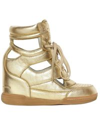 Marc By Marc Jacobs 70mm Cut Out Laminated Leather Sneakers - Lyst