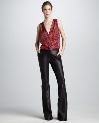 Rachel Zoe Hutton Flared Leather Pants - Lyst
