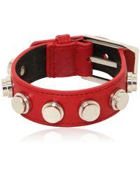 Saint Laurent Studded Leather Small Cuff Bracelet - Lyst
