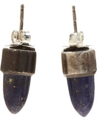 Aesa - Lapis Spire Stud Earrings - Lyst