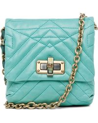 Lanvin Mini Pop Happy Quilted Shoulder Bag in Light Green - Lyst
