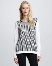 Tibi Mesh Sweater - Lyst