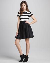 Alice + Olivia Laurelle Striped Combo Dress - Lyst