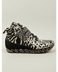 Bernhard Willhelm X Camper Mens Toether Safari Print Sneaker - Lyst