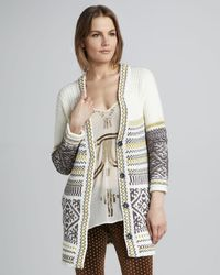 Free People Annabelle Patterned Cardigan - Lyst