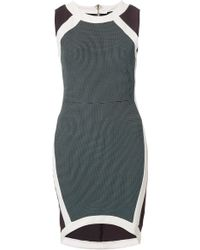 Topshop Mixed Texture Bodycon Dress - Lyst