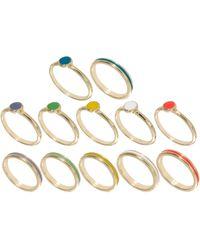 Asos Spot Stripe Rings Multipack - Lyst