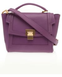 Elie Saab Small Calf Satchel purple - Lyst