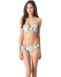 Issa - Butterfly Print Bikini Top - Lyst