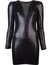Twentycluny Plunge Sequin Dress - Lyst