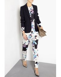 3.1 Phillip Lim Silk Scrapbook Floral Draped Pocket Trousers - Lyst