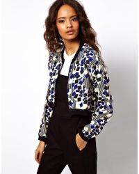 ASOS Collection Cropped Bomber Jacket  - Lyst