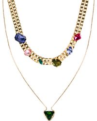 Asos Multipack Mix Jewel Necklaces - Lyst