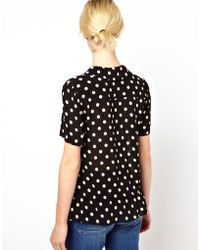 Boutique by Jaeger - Polka Dot Blouse - Lyst