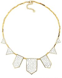 House Of Harlow 1960 Plated Five Station Necklace white - Lyst