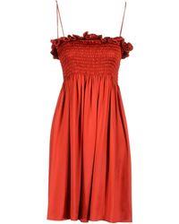 Joseph Short Dress - Lyst