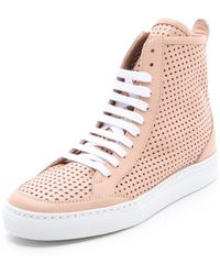 Maison Martin Margiela Perforated High Top Sneakers - Lyst