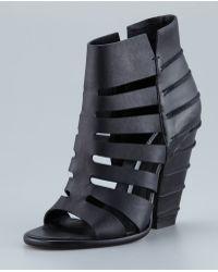 Camilla Skovgaard - Black Cuban Heel Cage Line Sandal - Lyst