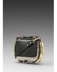 CC Skye The Studded Eden Two Tone Python Crossbody in Blackwhite - Lyst