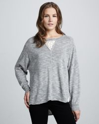 French Connection - Alex Lace-Inset Sweater - Lyst