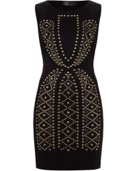 Pussycat Stud Pattern Bodycon Dress - Lyst