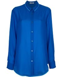Acne Patti Tape Sheer Shirt - Lyst