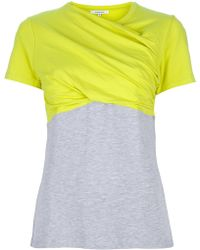 Carven Draped Short Sleeved Top - Lyst