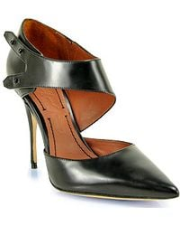 Elizabeth And James Sand Black Tapered Toe Pattern Pump - Lyst