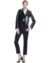 Valentino Double Alligator Biker Jacket - Lyst