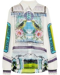 Mary Katrantzou Gala Printed Silk-georgette Blouse - Lyst