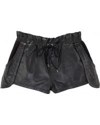 Rebecca Minkoff Mika Leather Shorts - Lyst