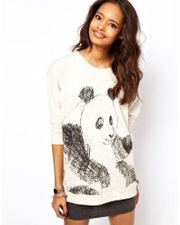 ASOS Collection Sweatshirt with Sketchy Panda - Lyst