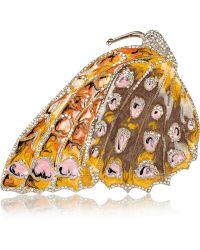 Valentino - Enamelled Crystal Butterfly Brooch - Lyst