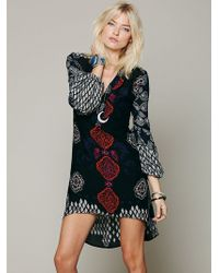 Free People Peacemaker Print Shapeless Dress - Lyst