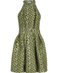 Kenzo Jacquard Dress green - Lyst