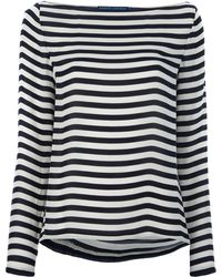 Ralph Lauren Blue Label Striped Loose Fit Top - Lyst