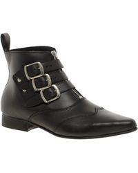 Underground Blitz Winklepicker Black Ankle Boots - Lyst