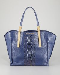 Z Spoke by Zac Posen - Danes Dry Pythonprint Small Shopper Bag Marlin - Lyst