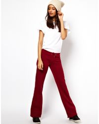 ASOS Collection Slouch Sweatpants in Wide Leg red - Lyst
