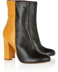 M Missoni Colorblock Leather Ankle Boots - Lyst