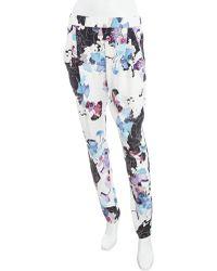 3.1 Phillip Lim Floral Print Trouser Pants - Lyst