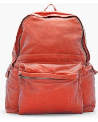 Ann Demeulemeester | Rust Treated Corduroy Backpack | Lyst