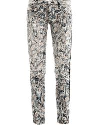IRO Ogden Printed Skinny Low-Rise Jeans - Lyst