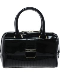 Ted Baker Marquez Patent Mini Bowling Bag black - Lyst