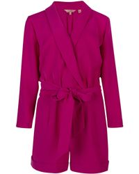 Ted Baker Hakke Wrap Playsuit - Lyst