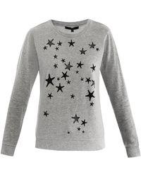 Tibi Star Print Sweatshirt gray - Lyst