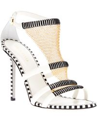 Sergio Rossi Sandal with Chain Detail white - Lyst