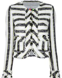 MSGM Bouclé Jacket white - Lyst