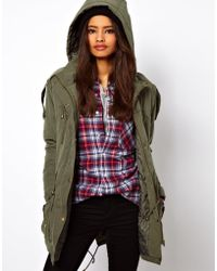 ASOS Collection Asos Popper Parka - Lyst