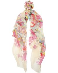 Erdem - Piotou Printed Modal and Cashmereblend Scarf - Lyst